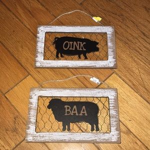 Kitchen - Farmhouse small wooden signs NWT